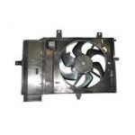 Диффузор вентилятор охлаждения двигателя в сборе с моторчиком Nissan Micra K12 \ Note (Ниссан Ноут E11)