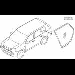 Стекло - форточка задняя левая (тонированное) Nissan X-Trail T31 (Ниссан Икс-Трейл T31)
