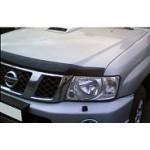 Дефлектор капота темный (мухоотбойник) EGR Nissan Patrol 2004- (Ниссан Патрол Y62)