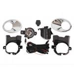 Комплект для установки противотуманных фар (ПТФ) проводка+кронштейн+рамка хром+кнопка Nissan Qashqai J10 '10-14 (Ниссан Кашкай J10 (2010-2013))