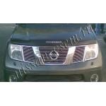 Дефлектор капота (мухоотбойник) с надписью Pathfinder темный EGR Nissan Pathfinder 2005- (Ниссан Патфайндер R51)