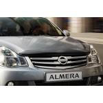 Дефлектор капота (мухоотбойник) Nissan Almera '2013- (Ниссан Альмера G15 Новая)