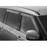 Дефлекторы боковых окон 4 шт. (оригинал без логотипа) Nissan Patrol 2010- / Infiniti Q56 / QX80 (Ниссан Патрол Y62)