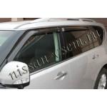 Дефлекторы боковых окон 4 шт. темные (ветровики) EGR Nissan Patrol 2010- / Infiniti Q56 / QX80 (Ниссан Патрол Y62)