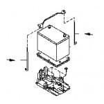 Держатель аккумуляторной батареи вертикальный Nissan Almera Classic B10 (1шт.) (Ниссан Альмера Классик B10)