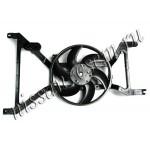 Диффузор с вентилятором в сборе / без кондиционера Nissan Almera G15 '2013- (Ниссан Альмера G15 Новая)