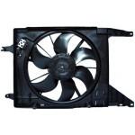 Диффузор с вентилятором в сборе Nissan Almera G15 '2013- (двс 1.6 +А/C) (Ниссан Альмера G15 Новая)