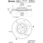Диск тормозной передний BREMBO (1шт.) Nissan Murano Z50-Z51 (VQ35DE) (Ниссан Мурано Z51)