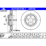 Диск тормозной передний (1шт.) (ATE) Nissan Juke F15E / X-Trail T31 '07- / Nissan Qashqai J10 '07- (Ниссан Икс-Трейл T31)