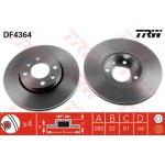 Диск тормозной передний (TRW) Nissan Micra k12 '02-/ Note '06- / Almera G15 (Ниссан Микра K12)