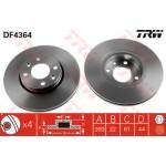Диск тормозной передний (TRW) Nissan Micra k12 '02-/ Note '06- / Almera G15 (Ниссан Ноут E11)