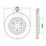 Диски тормозные передние 1шт Оригинал Nissan Pathfinder R51 07- / Navara D40M (Ниссан Патфайндер R51)