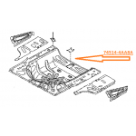 Дно багажника под запаску Nissan Almera G15 '2013- (Ниссан Альмера G15 Новая)