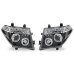 Фара (лев.+прав. комплект) ТЮНИНГ линз. свет. ободок черные Nissan Pathfinder R51 '05- (Ниссан Патфайндер R51)
