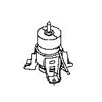Опора двигателя передняя Nissan Teana J32 (подушка ДВС) (Ниссан Теана J32)