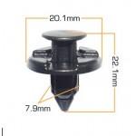 Клипса пистон крепления подкрылка / решетки / бампера Nissan (упаковка 10 шт) (Ниссан Патфайндер R52)