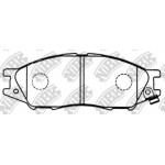 Колодки тормозные передние (NIBK) Nissan Almera Classic B10 '06-12 (Ниссан Альмера Классик B10)