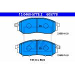 Колодки передние (ATE) Nissan R51M Z50 S51 Y50(M35) (Ниссан Патфайндер R51)