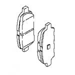 Тормозные колодки задние (оригинал) Teana J32 RUS / Juke F15 MR16DD / Tiida C13R (Ниссан Теана L33-J33)