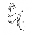 Тормозные колодки задние (оригинал) Teana J32 RUS / Juke F15 MR16DD / Tiida C13R / R52 (Ниссан Тиида C13)