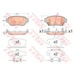 Колодки тормозные задние (TRW) Nissan Qashqai J11 '2014- / X-Trail T32 '2014- (Ниссан Кашкай J11)