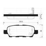 Колодки тормозные задние (KASHIYAMA) Nissan Qashqai '07- / Tiida C11 '07- / X-Trail T30 '01- / Teana J31 '03- (Ниссан Икс-Трейл T31)