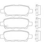 Колодки тормозные задние (оригинал) Nissan Qashqai J10 / Tiida C11 / X-Trail T30-T31 / Teana J31-J32-L33 (1-скрипун) (Ниссан Теана L33-J33)