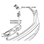 Кронштейн крепления заднего бампера горизонтальный (L=R) Nissan Qashqai J10 '07-10 (Ниссан Кашкай J10 (2007-2013)