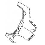 Крыло заднее левое Nissan Juke (Ниссан Жук F15 (2011-)