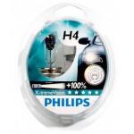 Лампа головного света H4 12V 60/55W P43t +100% X-treme Vision PHILIPS (комплект 2шт.) (Ниссан Тиида C11)