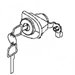 Личинка замка передней левой двери + ключ Nissan Teana J32 (Ниссан Теана J32)