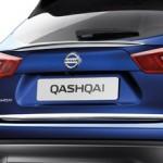 Накладка на стекло задней двери (молдинг хром) багажника Nissan Qashqai J11 '2014- (Ниссан Кашкай J11)