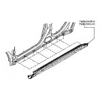 Накладка порога правая пластиковая Nissan Juke F15 (Ниссан Жук F15 (2011-)