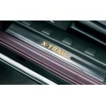 Накладки на пороги передних дверей с подсветкой Nissan X-Trail T31 '07- (Ниссан Икс-Трейл T31)