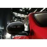 Накладки на зеркала черные Nissan Juke F15 (Ниссан Жук F15 (2011-)