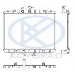 Радиатор охлаждения 2.5 вариатор (CVT) , MT (KOYO) Nissan X-Trail T31 '07- (Ниссан Икс-Трейл T31)