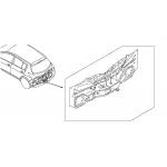 Панель кузова задняя (ХЭТЧБЕК ) Nissan Tiida C11X '07- (Ниссан Тиида C11)