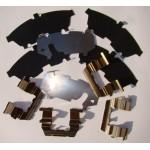 Пластины противоскрипные (комплект на передние колодки) Nissan Almera B10 (Ниссан Альмера Классик B10)