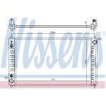 Радиатор охлаждения AT (2.5 / 3.5) (NISSENS) Nissan Teana L33 '2014- / Teana J32 '08-14 (Ниссан Теана L33-J33)
