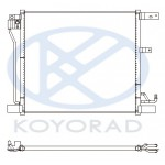 Радиатор кондиционера без осушителя (KOYO) Nissan Juke F15 MR16DDT (Ниссан Жук F15 (2011-)