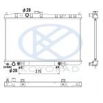 Радиатор охлаждения AT (автомат) Nissan Almera Classic B10 (Ниссан Альмера Классик B10)