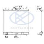 Радиатор охлаждения MT (механика) Nissan Tiida C11 1.6 (KOYO) (Ниссан Тиида C11)