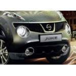 Рамка противотуманной фары хромированная (комплект) Nissan Juke F15 '2010- (кольца ПТФ) (Ниссан Жук F15 (2011-)
