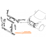 Рамка суппорта радиатора (нижняя часть) Nissan Juke F15E turbo (Ниссан Жук F15 (2011-)