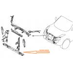 Рамка суппорта радиатора (нижняя часть) Nissan Juke F15E (Ниссан Жук F15 (2011-)