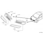 Решетка радиатора левая с хром молдингом Nissan Micra k12 '08- (Ниссан Микра K12)