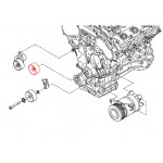 Ролик (обводной) приводного ремня генератора Nissan J32 VQ25DE (Ниссан Мурано Z51)