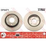 Диск тормозной передний вентилируем (1шт) Juke F15 '10- / Tiida C13R '15- (Ниссан Тиида C13)
