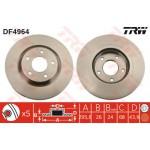 Диск тормозной передний TRW (1шт.) Nissan Qashqai J10 '07- / X-Trail T31 '07- (Ниссан Икс-Трейл T31)
