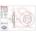Диск тормозной передний BREMBO (1шт.) X-Trail T31 '07- / Qashqai J10 '07- / Nissan Juke F15E (Turbo) (Ниссан Икс-Трейл T31)